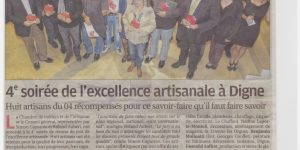 article soirée excellence artisanale comp